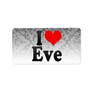 I love Eve Personalized Address Label