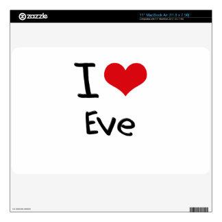 I love Eve MacBook Decals