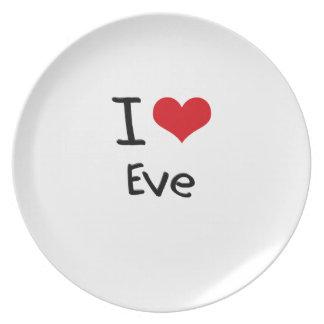 I love Eve Plates