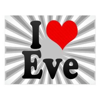 I love Eve Postcard