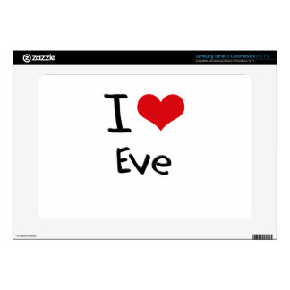 I love Eve Samsung Chromebook Decal