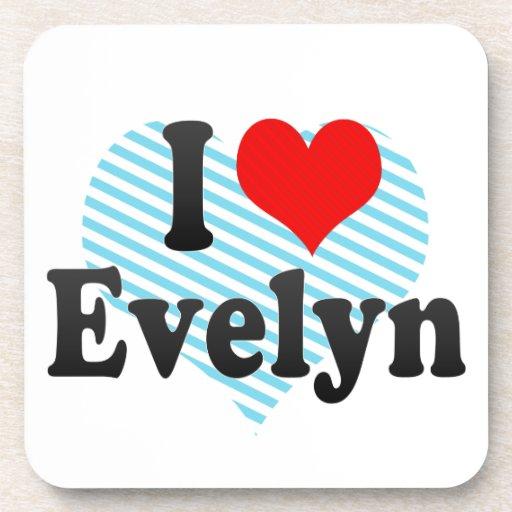 I love Evelyn Beverage Coaster