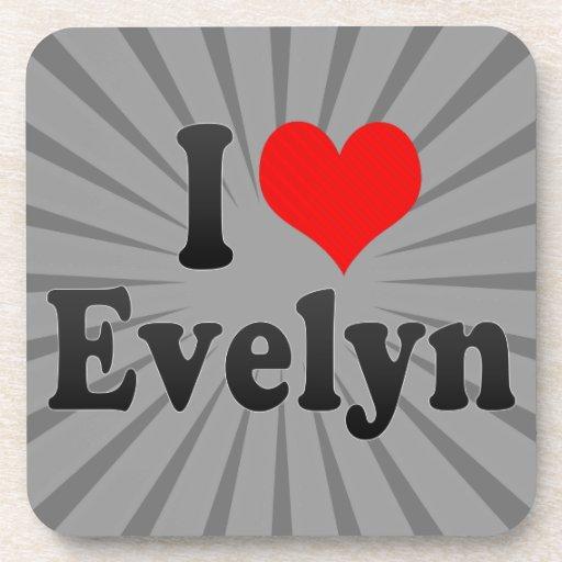 I love Evelyn Beverage Coasters