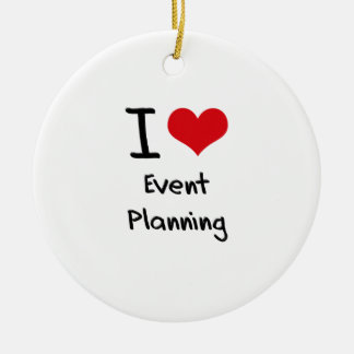I love Event Planning Double-Sided Ceramic Round Christmas Ornament