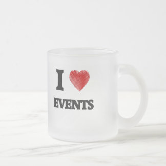I love Events Frosted Glass Coffee Mug