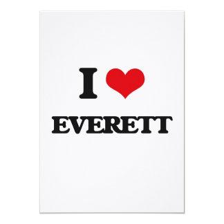I Love Everett 5x7 Paper Invitation Card