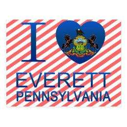I Love Everett, PA Postcard