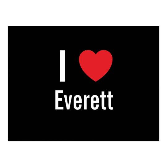 I love Everett Postcard