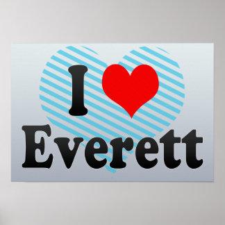 I Love Everett, United States Print
