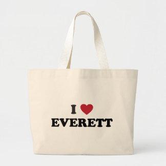 I Love Everett Washington Canvas Bags