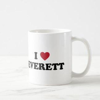 I Love Everett Washington Classic White Coffee Mug