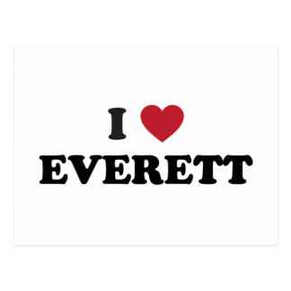 I Love Everett Washington Postcard