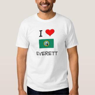 I Love Everett Washington T Shirt