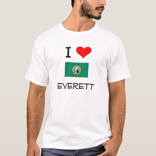 I Love Everett Washington T-Shirt