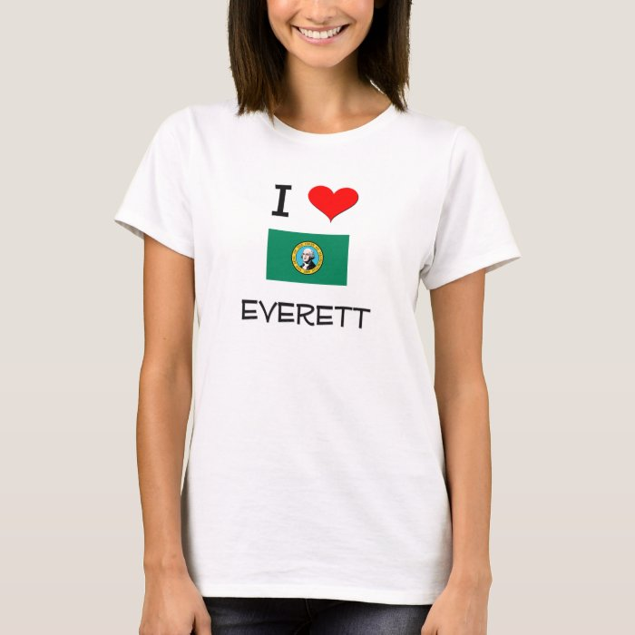 I Love Everett Washington T-Shirt