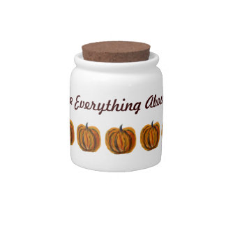 I Love Everything About Fall Candy Jar