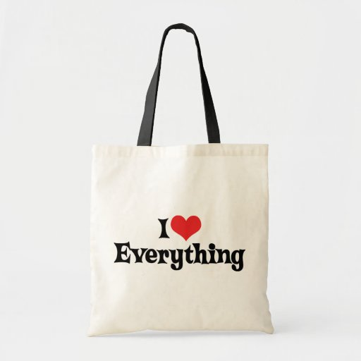 I Love Everything Bag