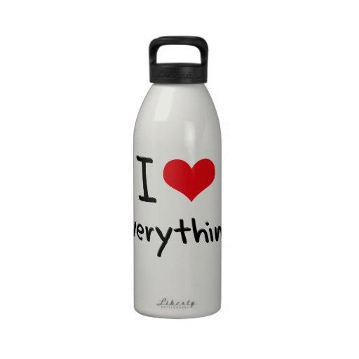 I love Everything Drinking Bottles