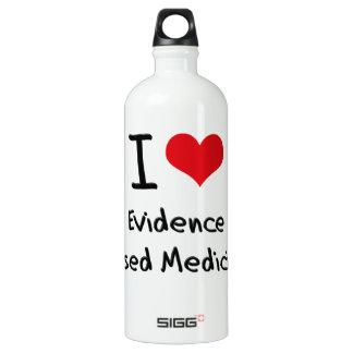 I love Evidence Based Medicine Aluminum Water Bottle