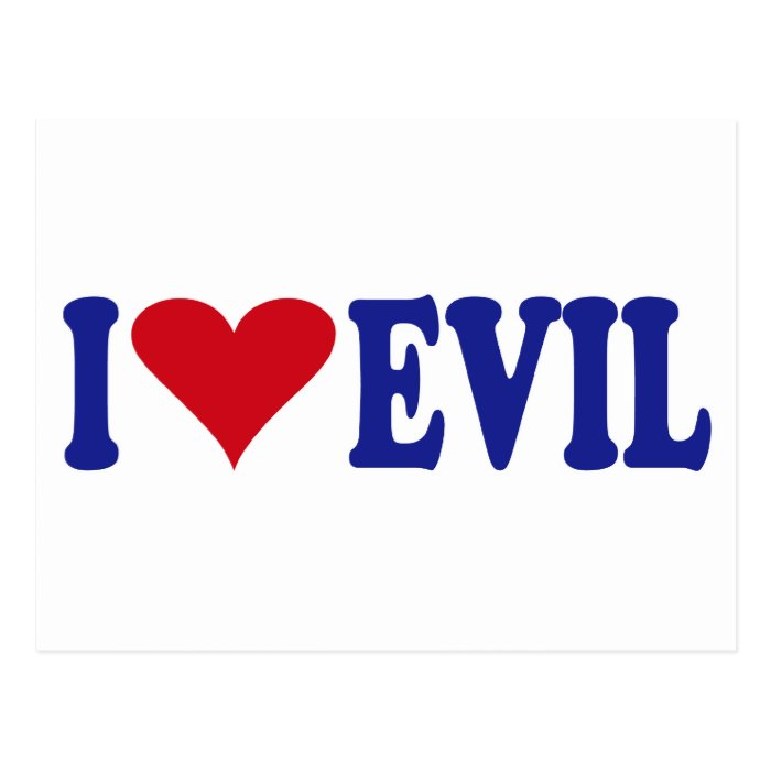 I Love Evil Postcard