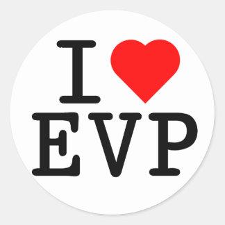 I love EVP Classic Round Sticker