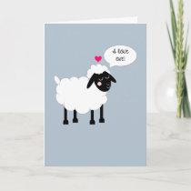 I Love Ewe Anniversary Card