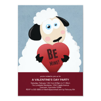 "I Love Ewe Be Mine | Valentine's Party 5"" X 7"" Invitation Card"