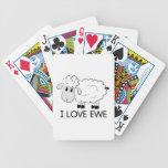 I Love Ewe Bicycle Playing Cards