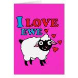 I love Ewe Card