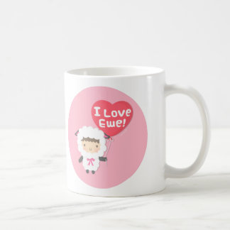 I Love Ewe Cute Sheep Pun Humor Mug