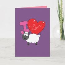 I Love Ewe - Cute Sheep Valentine's Greeting Card
