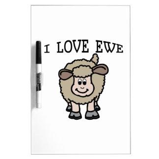 I Love Ewe Dry-Erase Board