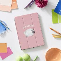 I Love Ewe Kawaii Cute Animal Funny Pun Humor Pink iPad Pro Cover