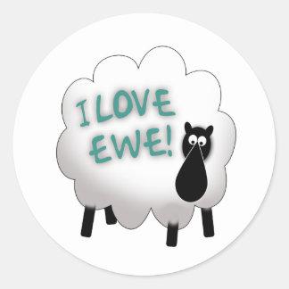 I Love Ewe, Kid! Classic Round Sticker