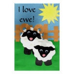 I Love Ewe Poster