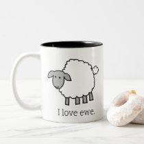 I Love Ewe Sheep Mug