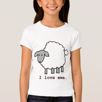 I Love Ewe Sheep T-Shirt