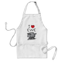 I Love Ewe! Valentines Day Adult Apron