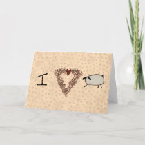 I Love Ewe Valentine's Day Card