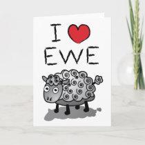 I Love Ewe! Valentines Day Holiday Card