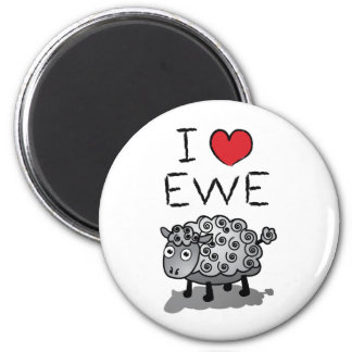I Love Ewe! Valentines Day Magnet