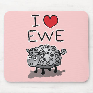 I Love Ewe! Valentines Day Mouse Pad