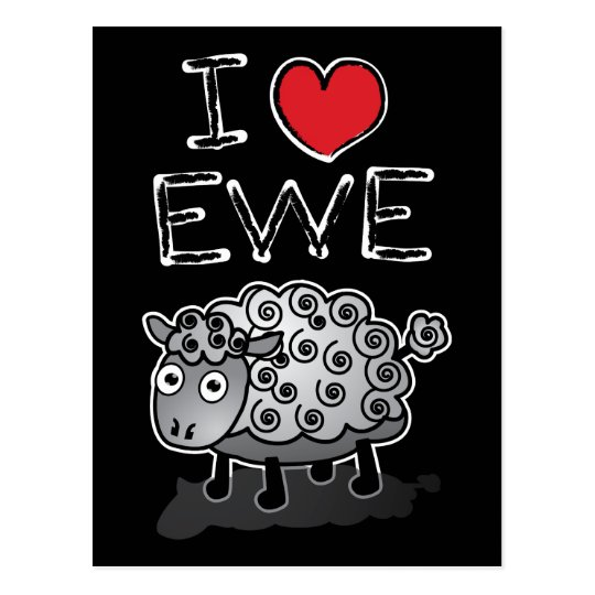 I Love Ewe! Valentines Day Postcard
