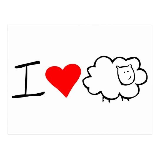 I love ewe (you) postcard