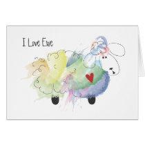 I Love Ewe (you) Sheep Card
