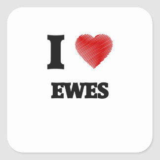 I love EWES Square Sticker