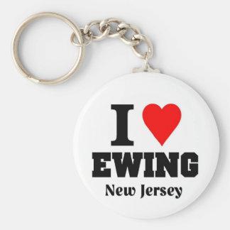 I love Ewing, New Jersey Basic Round Button Keychain