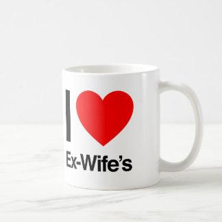 i love ex wifes coffee mug