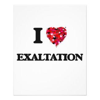 "I love EXALTATION 4.5"" X 5.6"" Flyer"