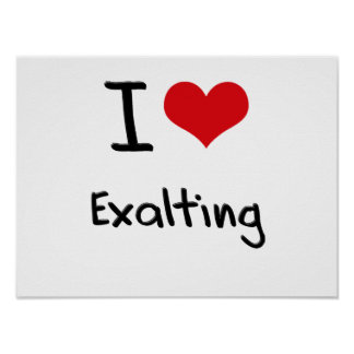 I love Exalting Poster